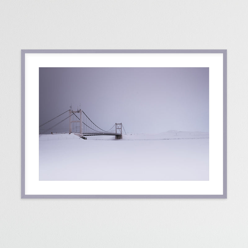 Bridge over Jökulsárlón Glacier Lagoon | Framed Photo Print by Jan Erik Waider