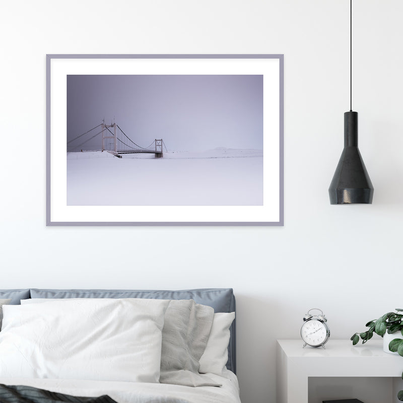 Bridge over Jökulsárlón Glacier Lagoon | Wall Art Print by Jan Erik Waider