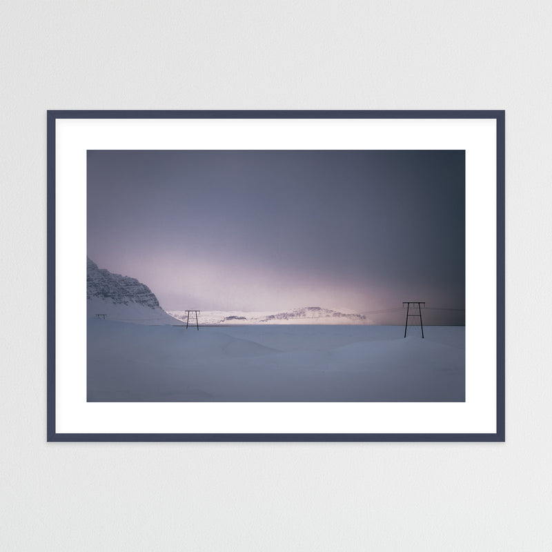 Soft Winter Light over the Mountains | Framed Photo Print by Jan Erik Waider