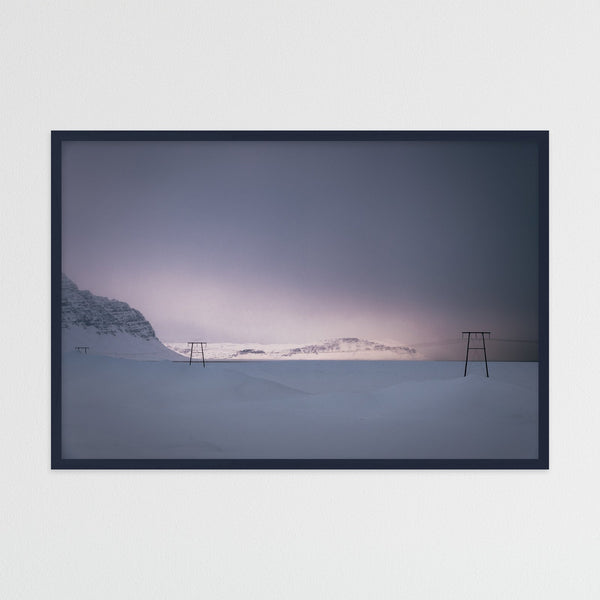 Soft Winter Light over the Mountains | Photography Print by Northlandscapes