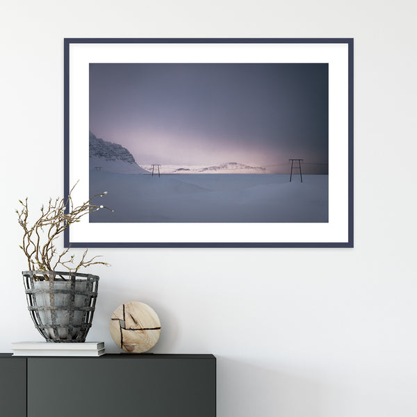 Soft Winter Light over the Mountains | Wall Art Print by Jan Erik Waider