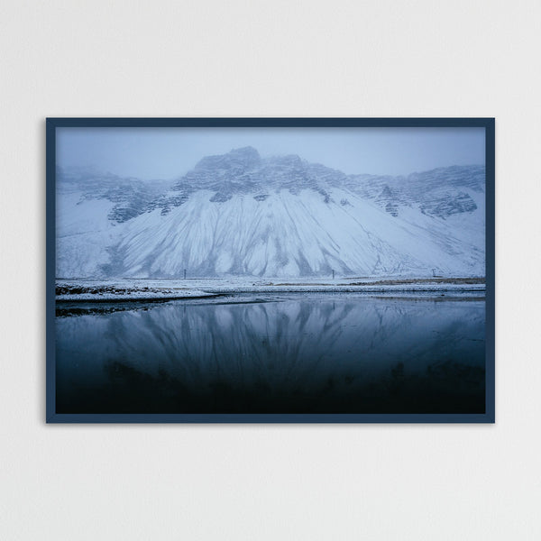 Blue Colors of Icelandic Winter | Photography Print by Northlandscapes