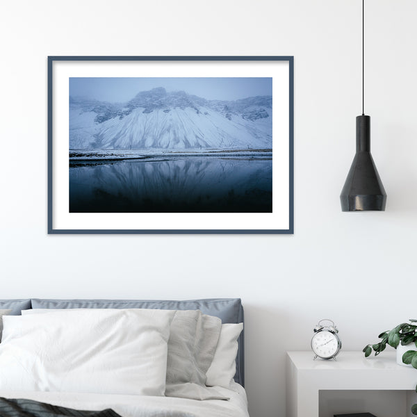 Blue Colors of Icelandic Winter | Wall Art Print by Jan Erik Waider