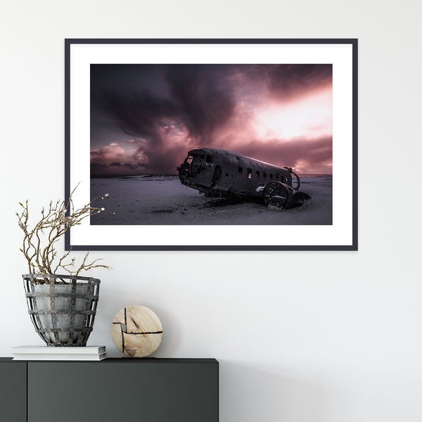 Abandoned Wreck of Sólheimasandur in Iceland | Wall Art Print by Jan Erik Waider