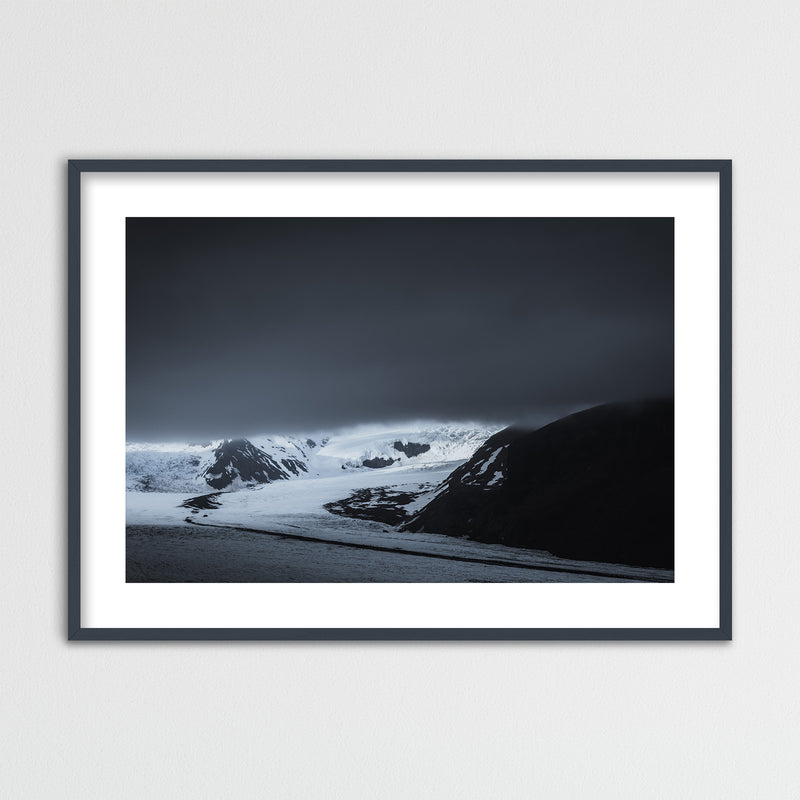 Dark Clouds over Skaftafell Glacier in Iceland | Framed Photo Print by Jan Erik Waider