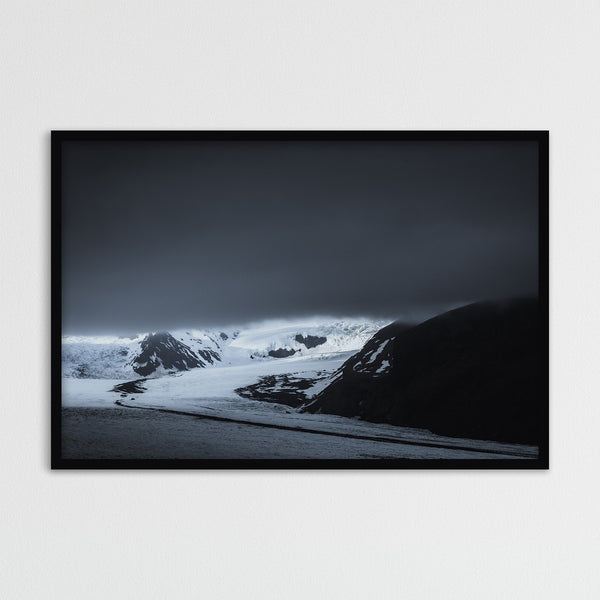 Dark Clouds over Skaftafell Glacier in Iceland | Photography Print by Northlandscapes