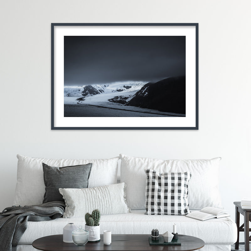 Dark Clouds over Skaftafell Glacier in Iceland | Wall Art Print by Jan Erik Waider