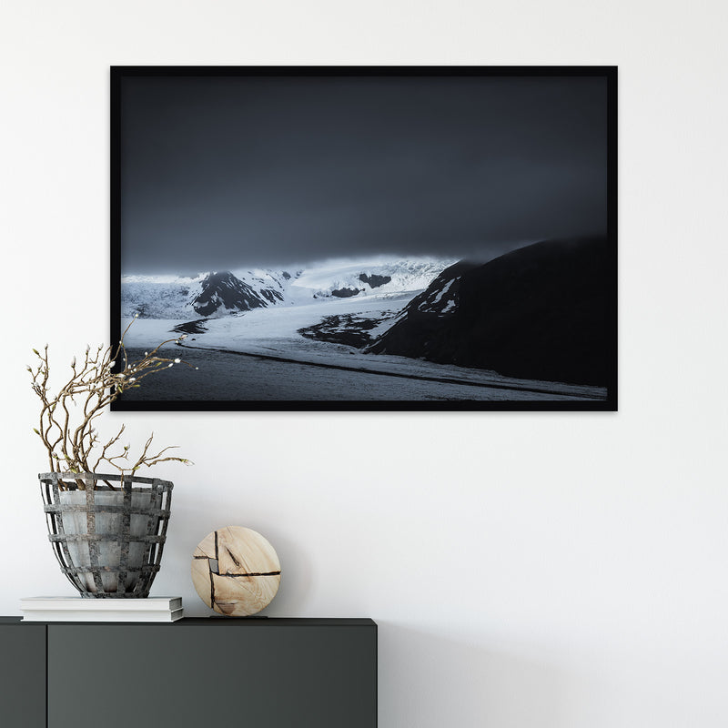 Dark Clouds over Skaftafell Glacier in Iceland | Fine Art Photography Print by Northlandscapes