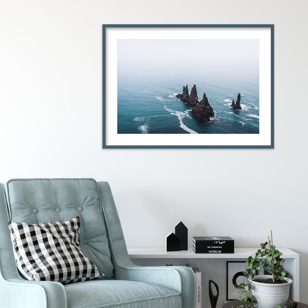 Reynisdrangar Basalt Sea Stacks in Iceland | Wall Art Print by Jan Erik Waider