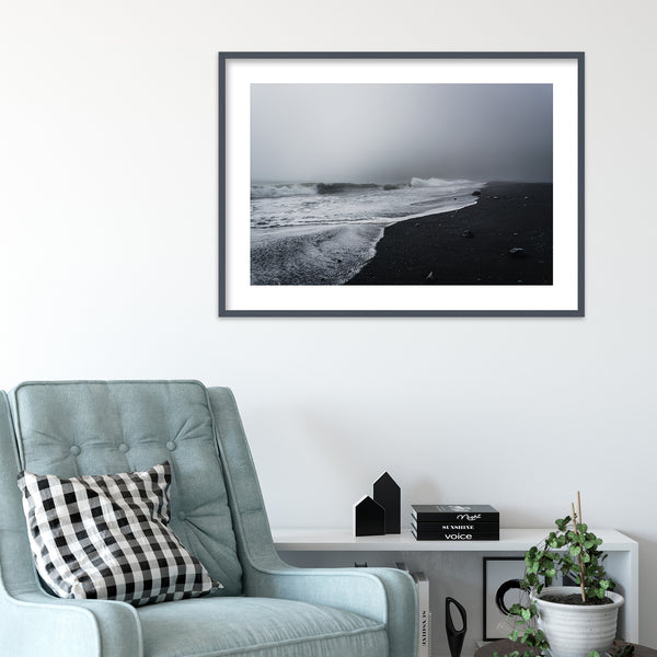 Reynisfjara Black Sand Beach, Iceland | Wall Art Print by Jan Erik Waider