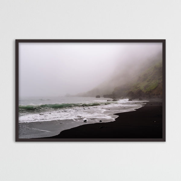 Moody Black Sand Beach of Vík in Iceland | Photography Print by Northlandscapes