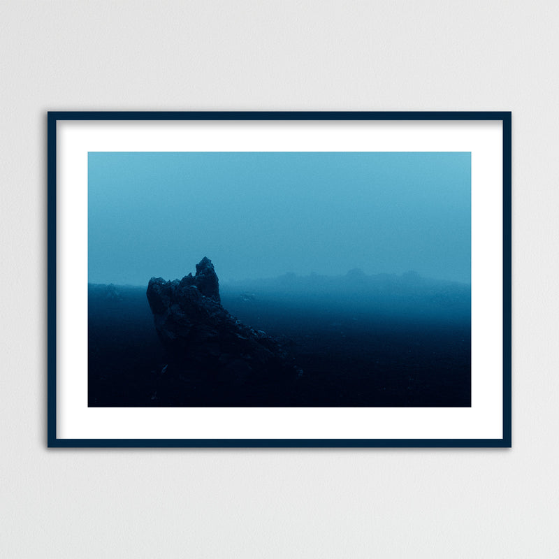 Surreal Blue Light over Desert Landscape in Iceland | Framed Photo Print by Jan Erik Waider