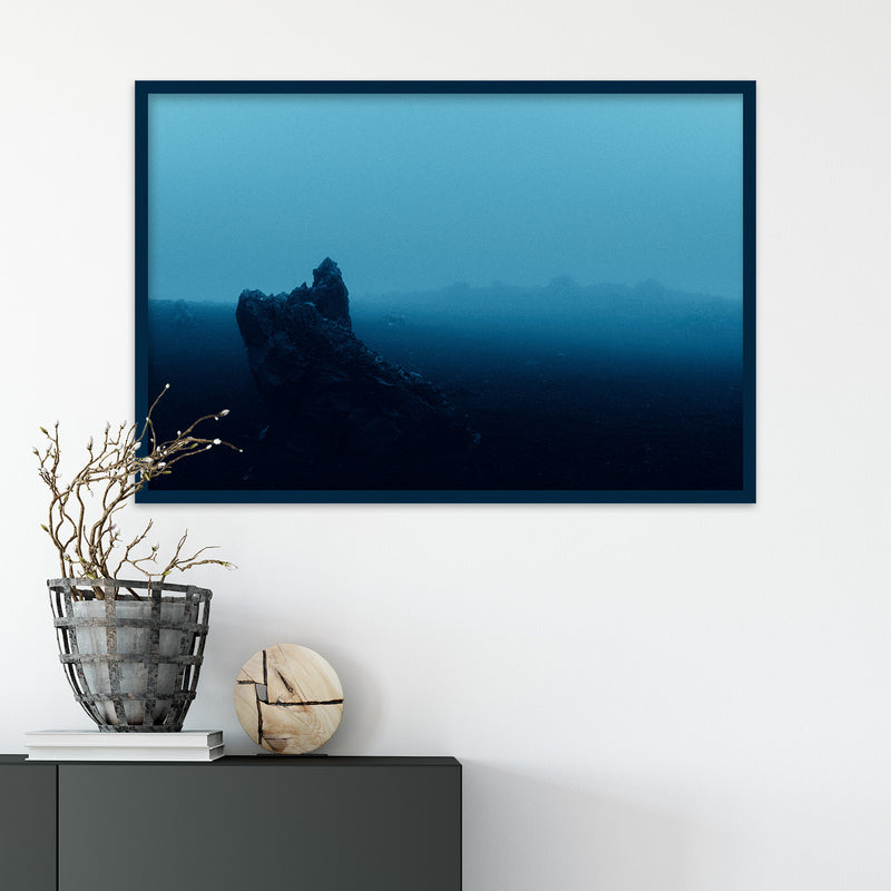 Surreal Blue Light over Desert Landscape in Iceland | Fine Art Photography Print by Northlandscapes