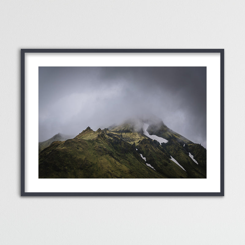 Green Mountains of the Icelandic Highlands | Framed Photo Print by Jan Erik Waider