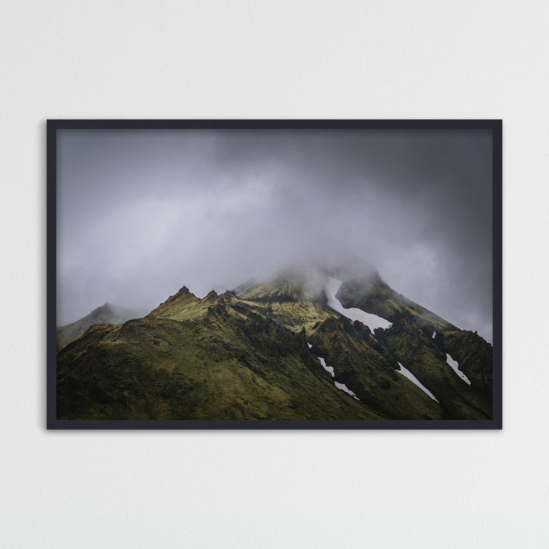 Green Mountains of the Icelandic Highlands | Photography Print by Northlandscapes
