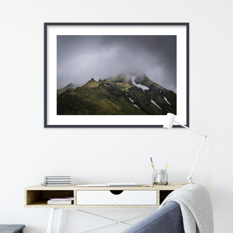 Green Mountains of the Icelandic Highlands | Wall Art Print by Jan Erik Waider