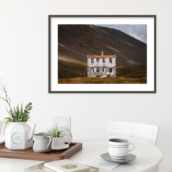 Old Abandoned House in the Westfjords of Iceland | Wall Art Print by Jan Erik Waider