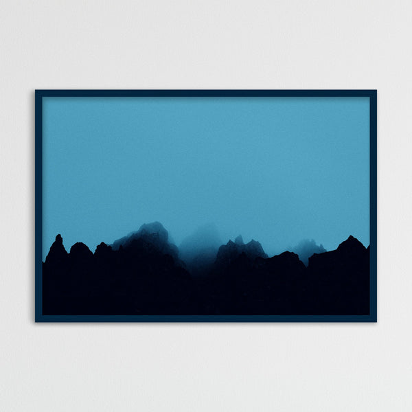 Blue Fog over Rocks in Iceland | Photography Print by Northlandscapes