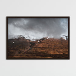 Clouds Retreating into the Mountains of Iceland | Photography Print by Northlandscapes