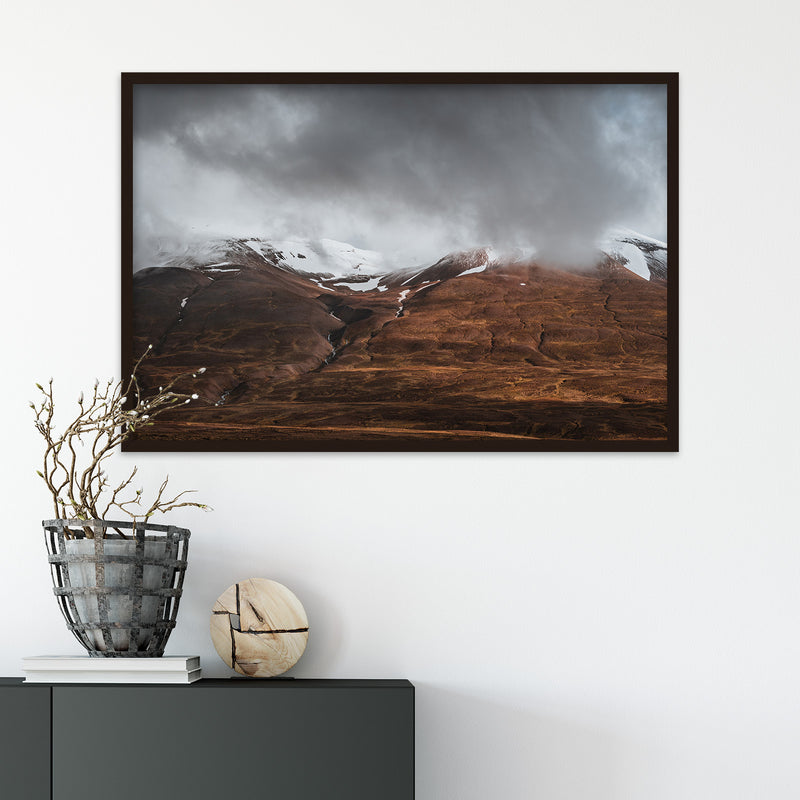Clouds Retreating into the Mountains of Iceland | Fine Art Photography Print by Northlandscapes