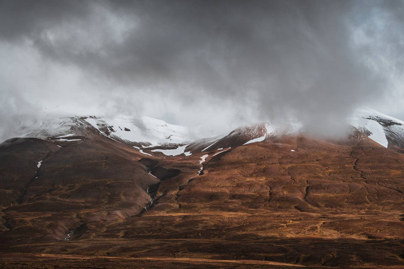 Clouds Retreating into the Mountains of Iceland