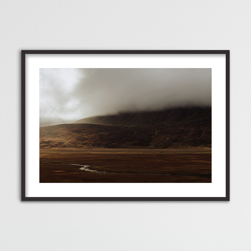 Dramatic Autumn Light over Valley in Iceland | Framed Photo Print by Jan Erik Waider
