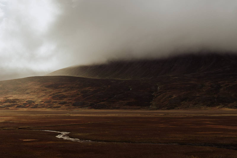 Dramatic Autumn Light over Valley in Iceland