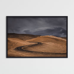 Dark Clouds over Road in Iceland | Photography Print by Northlandscapes