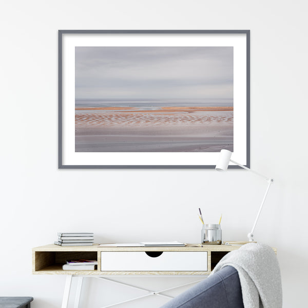 Minimalist Landscape of Rauðasandur Beach in Iceland | Wall Art Print by Jan Erik Waider