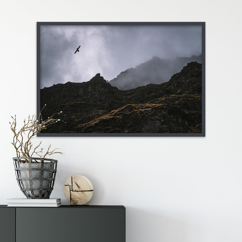 Seagulls over Cliffs in Iceland | Fine Art Photography Print by Northlandscapes