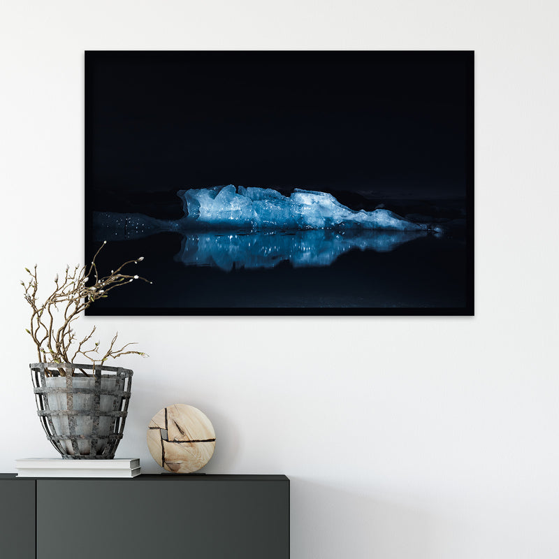 Illuminated Glacier Ice of Jökulsárlón | Fine Art Photography Print by Northlandscapes