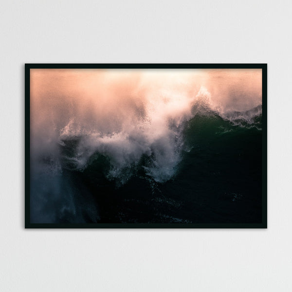Abstract Orange Ocean Waves | Photography Print by Northlandscapes