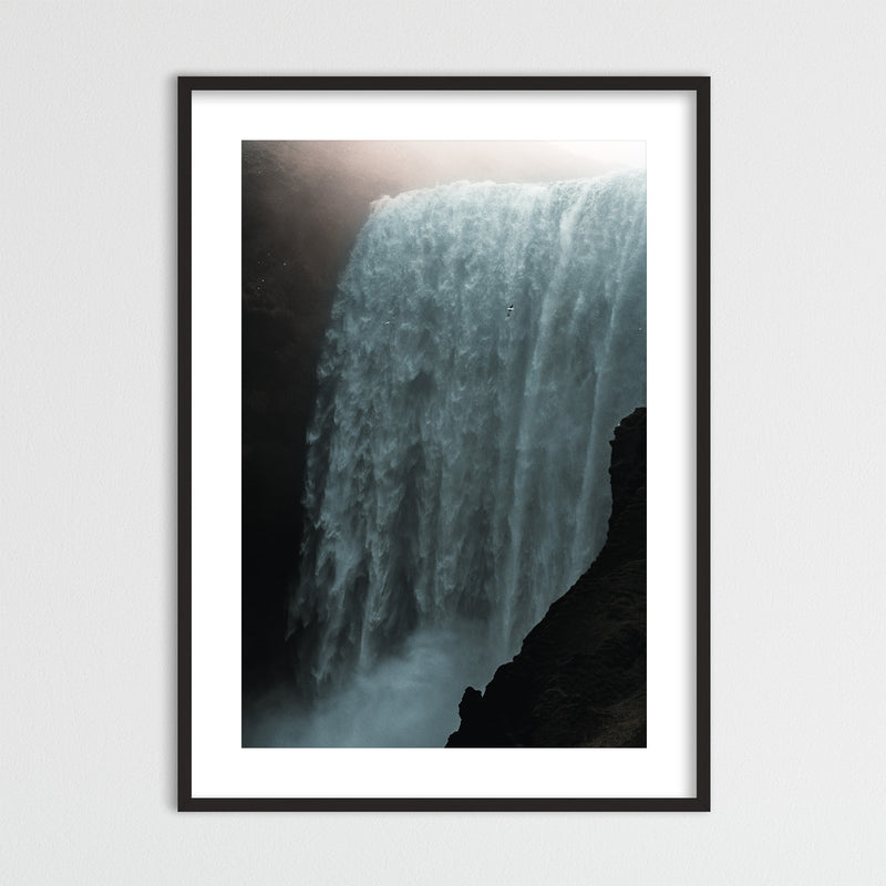 Skógafoss Waterfall in the Morning Sun | Framed Photo Print by Jan Erik Waider