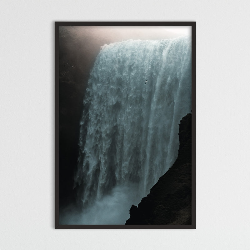 Skógafoss Waterfall in the Morning Sun | Photography Print by Northlandscapes