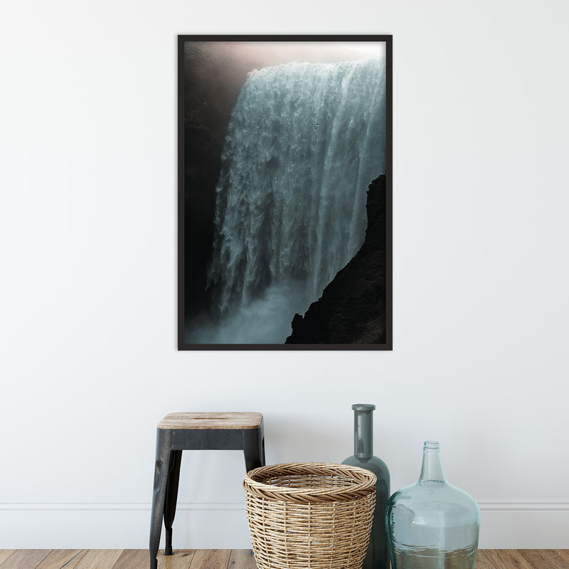 Skógafoss Waterfall in the Morning Sun | Fine Art Photography Print by Northlandscapes