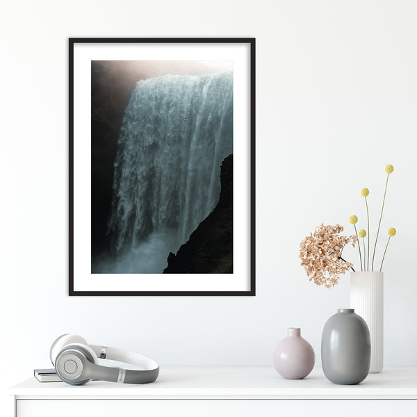 Skógafoss Waterfall in the Morning Sun | Wall Art Print by Jan Erik Waider
