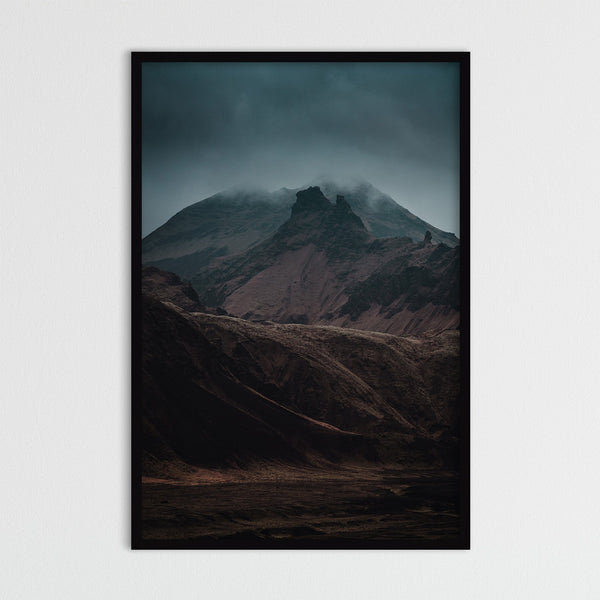 Dramatic Dark Light over the Mountains | Photography Print by Northlandscapes