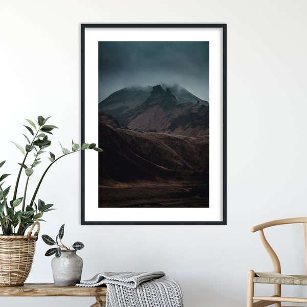 Dramatic Dark Light over the Mountains | Wall Art Print by Jan Erik Waider