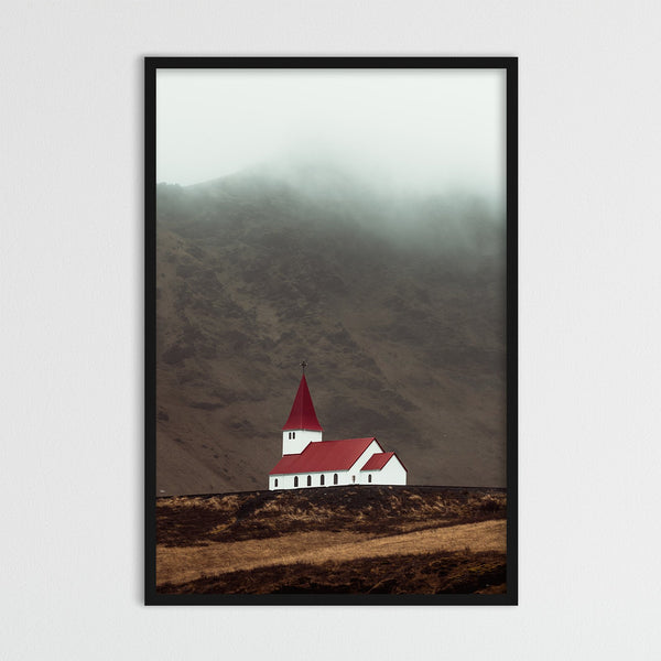 Church of Vík í Mýrdal, Iceland | Photography Print by Northlandscapes