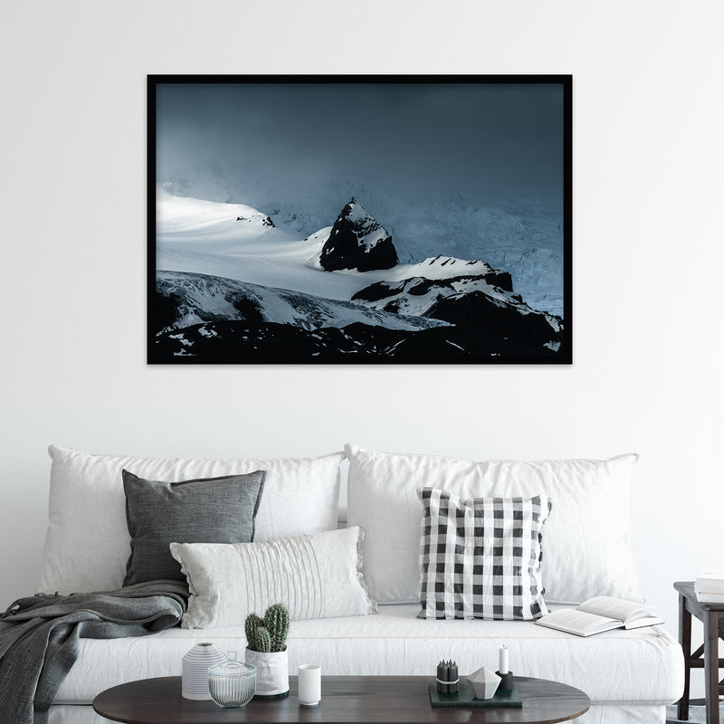 Mountain Peak and Vatnajökull Glacier | Fine Art Photography Print by Northlandscapes