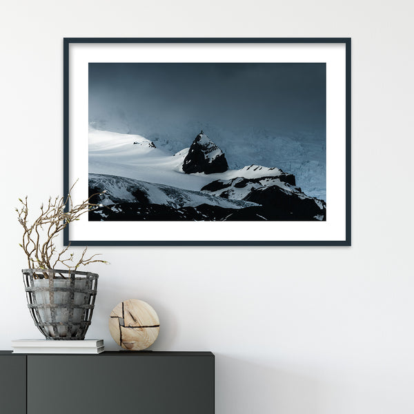 Mountain Peak and Vatnajökull Glacier | Wall Art Print by Jan Erik Waider