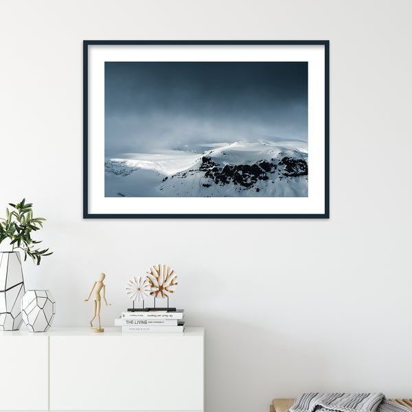 Dark Clouds over Vatnajökull Glacier | Wall Art Print by Jan Erik Waider