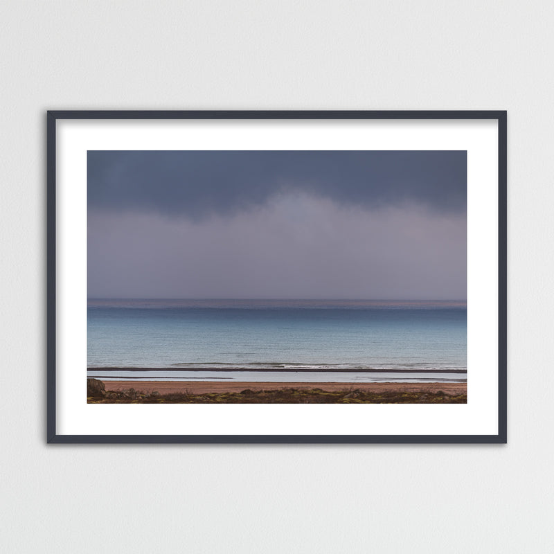 Minimal Seascape in Purple and Blue | Framed Photo Print by Jan Erik Waider