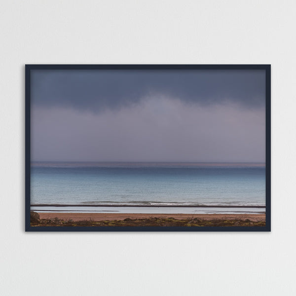 Minimal Seascape in Purple and Blue | Photography Print by Northlandscapes