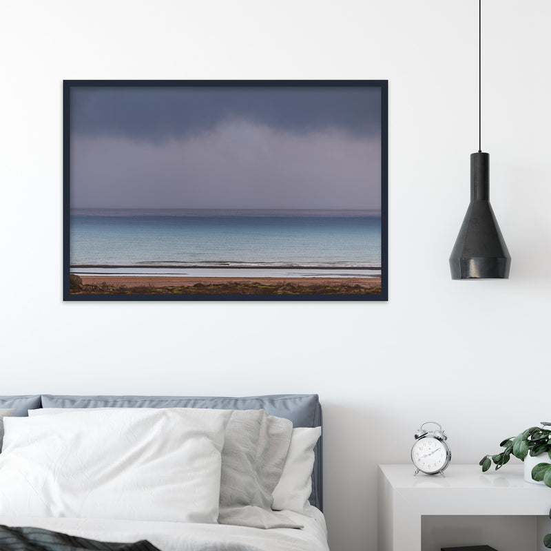 Minimal Seascape in Purple and Blue | Fine Art Photography Print by Northlandscapes