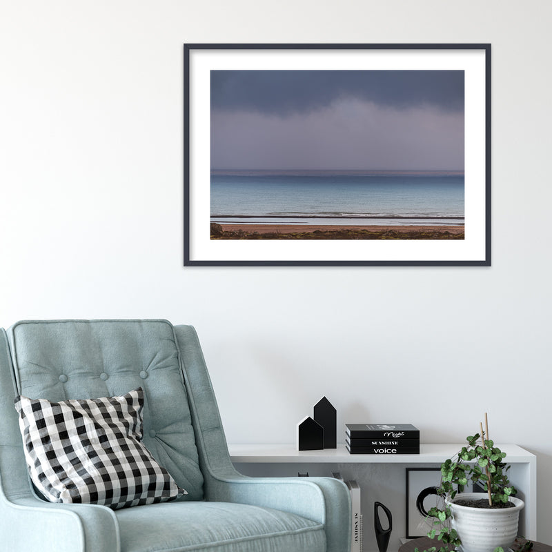 Minimal Seascape in Purple and Blue | Wall Art Print by Jan Erik Waider