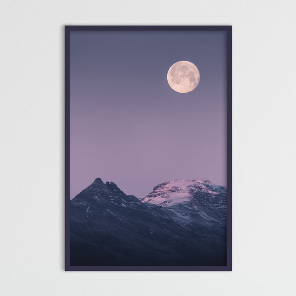 Full Morning Moon in Pastel Colors | Photography Print by Northlandscapes