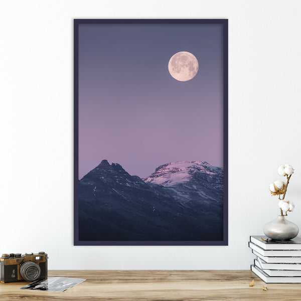 Full Morning Moon in Pastel Colors | Wall Art Print by Jan Erik Waider