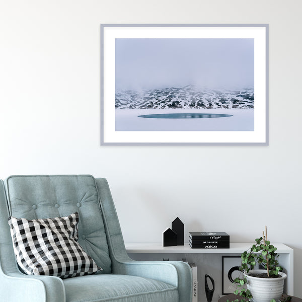 Frozen Lake in Norway | Wall Art Print by Jan Erik Waider