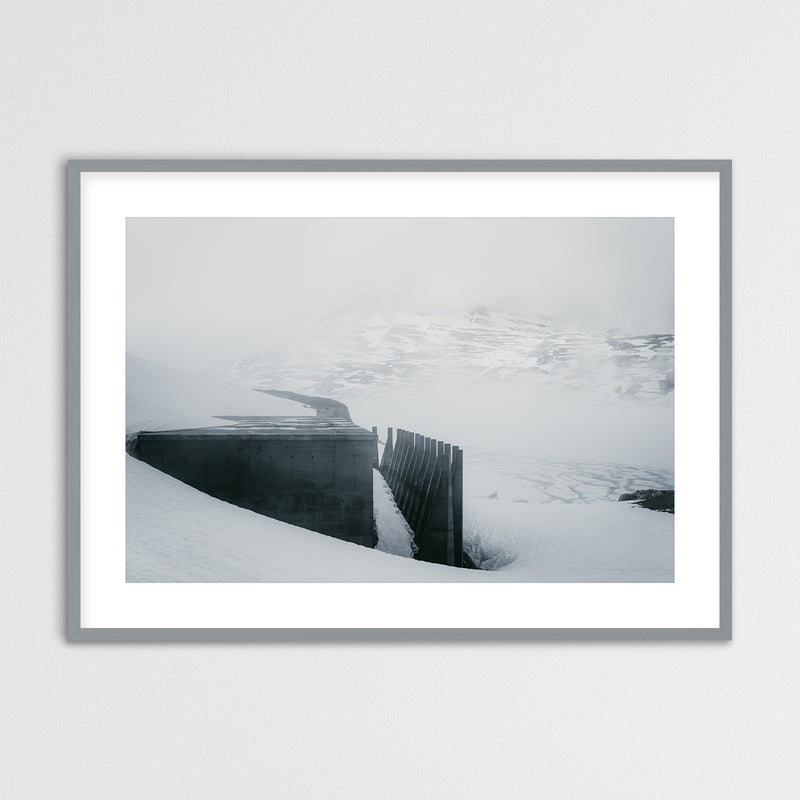 Dam Architecture at Lake Styggevatnet in Norway | Framed Photo Print by Jan Erik Waider